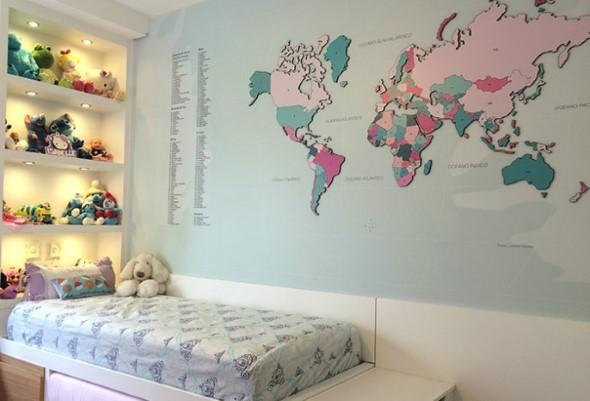 Decorar o quarto com mapa mundi 001