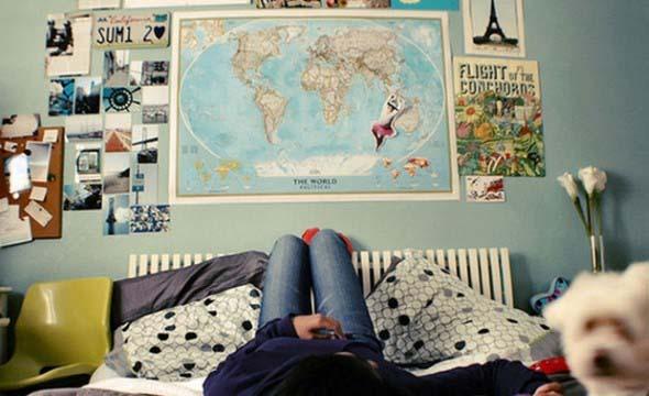 Decorar o quarto com mapa mundi 004
