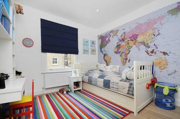 Decorar o quarto com mapa mundi 008