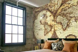 Decorar o quarto com mapa mundi 011