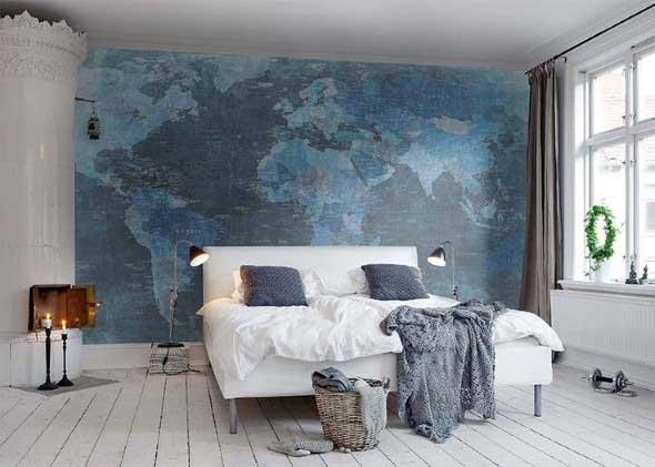 Decorar o quarto com mapa mundi 013