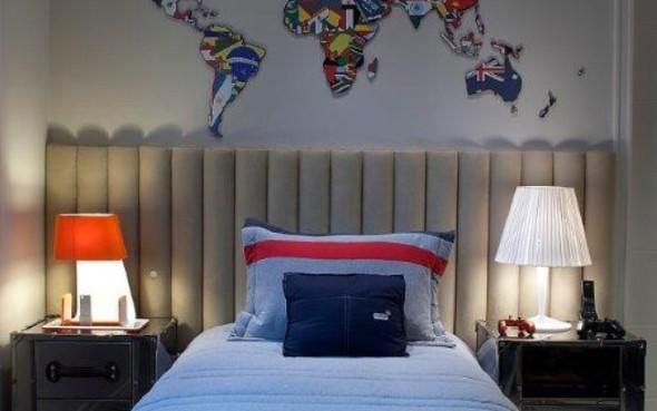 Decorar o quarto com mapa mundi 016