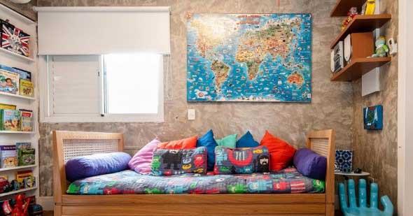 Decorar o quarto com mapa mundi 018