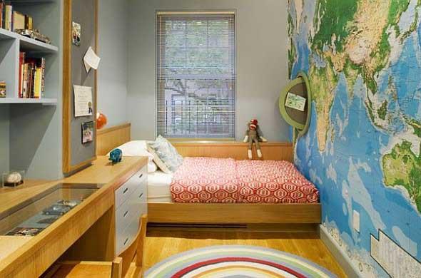 Decorar o quarto com mapa mundi 022