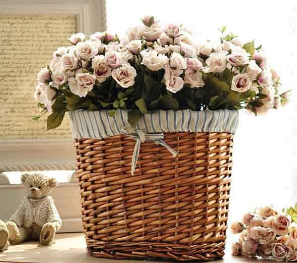 Ideias para usar cestos na decora o e organiza o da casa - Cestos de mimbre decorados ...