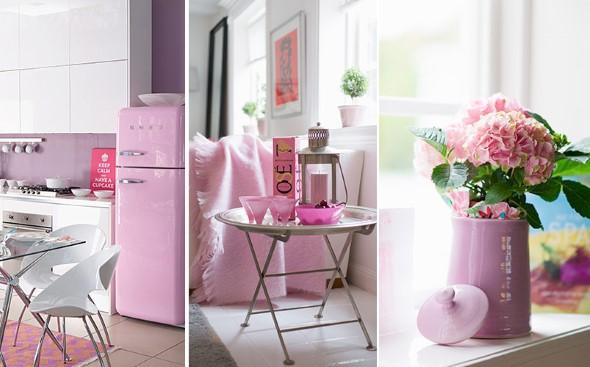 Inspire-se decorando a casa com tons de rosa 008