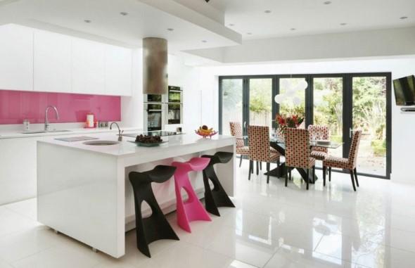 Inspire-se decorando a casa com tons de rosa 020