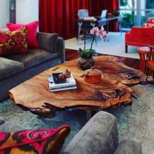 Madeira rústica para decorar a sala de estar 004