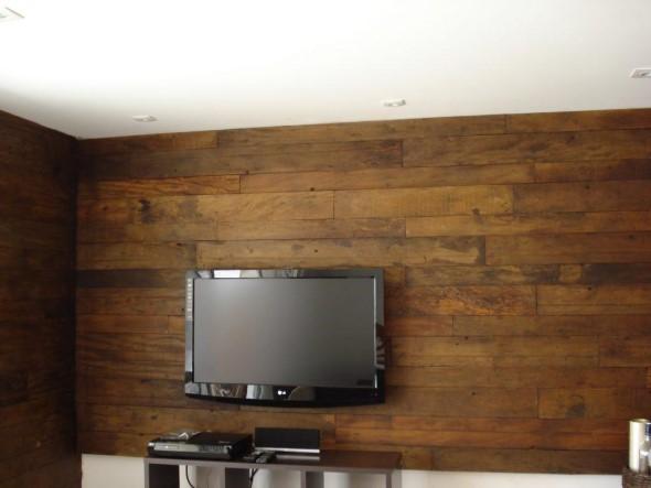 Madeira rústica para decorar a sala de estar 010