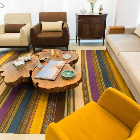 Madeira rústica para decorar a sala de estar 014