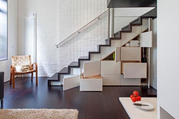 Modelos de escadas casas pequenas 001