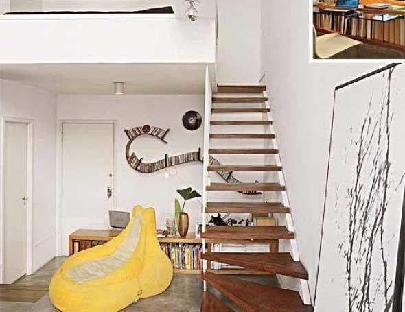 Modelos de escadas casas pequenas 004