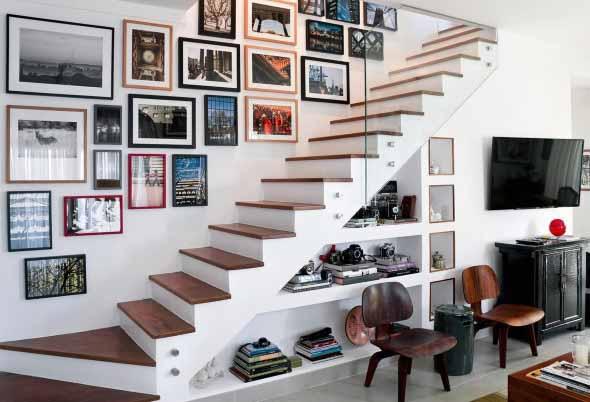 Modelos de escadas casas pequenas 006