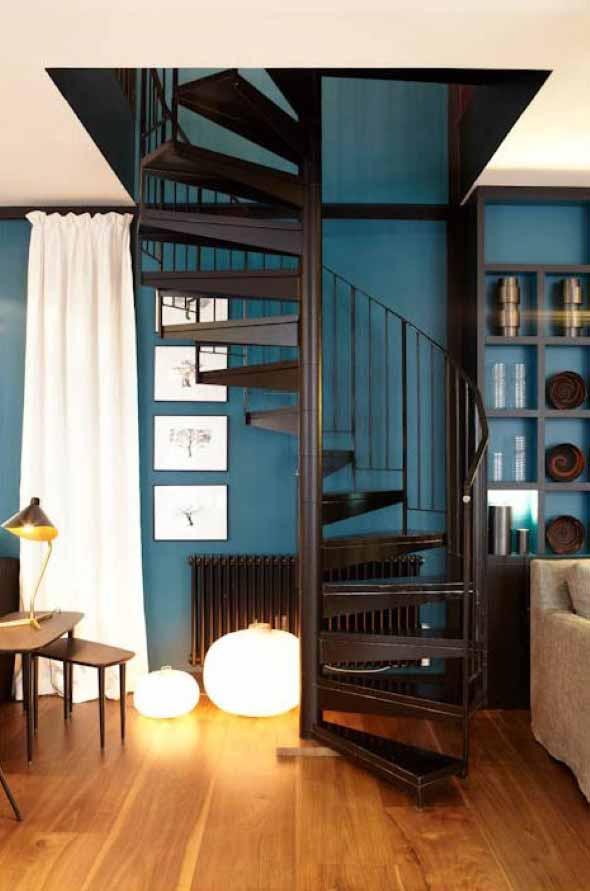 Modelos de escadas casas pequenas 008