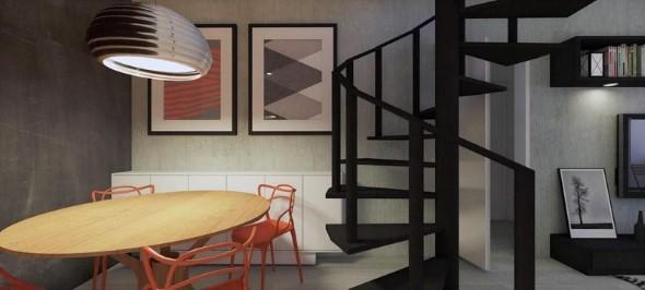 Modelos de escadas casas pequenas 009