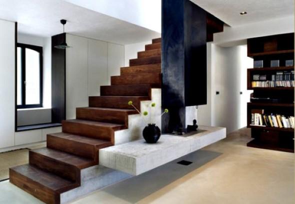 Modelos de escadas casas pequenas 015