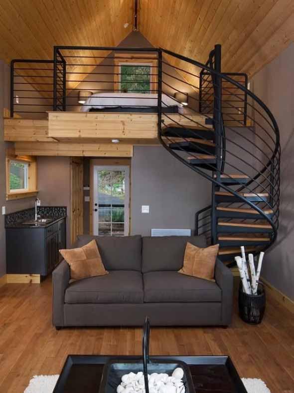 20 modelos de escadas que ocupam pouco espa o em casas for Decorar casa 45 m2
