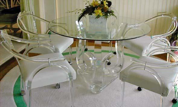 Modernas cadeiras de acrílico 001