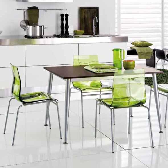 Modernas cadeiras de acrílico 002