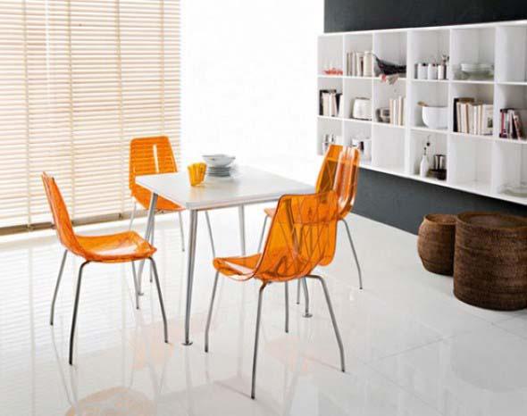 Modernas cadeiras de acrílico 003