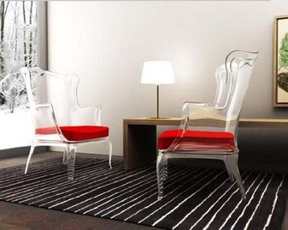 Modernas cadeiras de acrílico 006