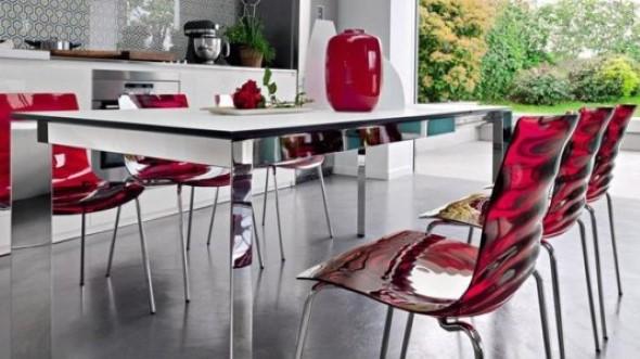 Modernas cadeiras de acrílico 009