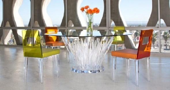 Modernas cadeiras de acrílico 020