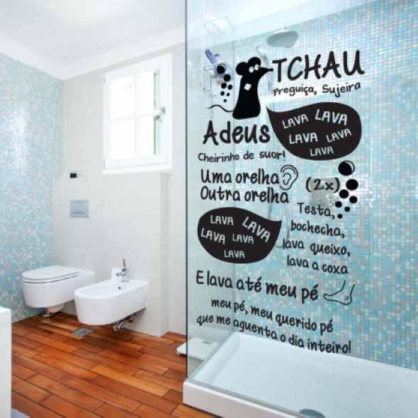 Adesivos criativos para Box de banheiro 001