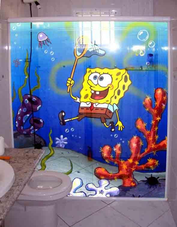 Adesivos criativos para Box de banheiro 007