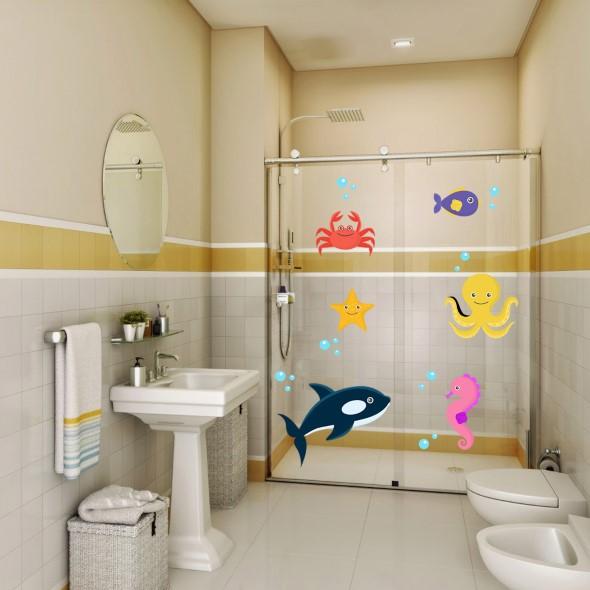 Adesivos criativos para Box de banheiro 009