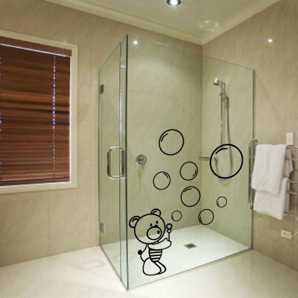 Adesivos criativos para Box de banheiro 012