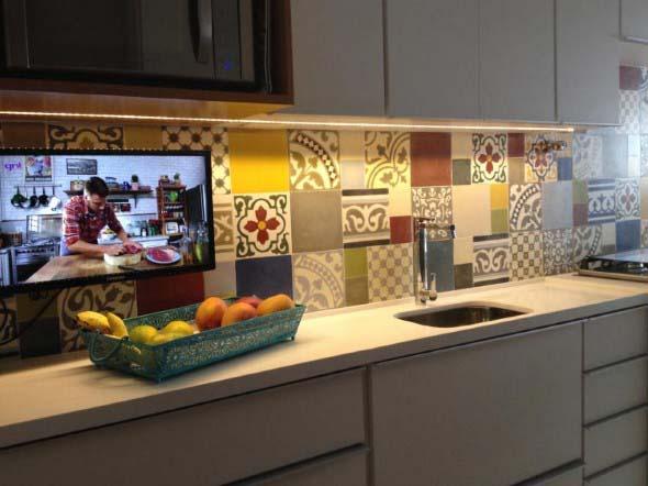 Azulejos estampados na cozinha 002