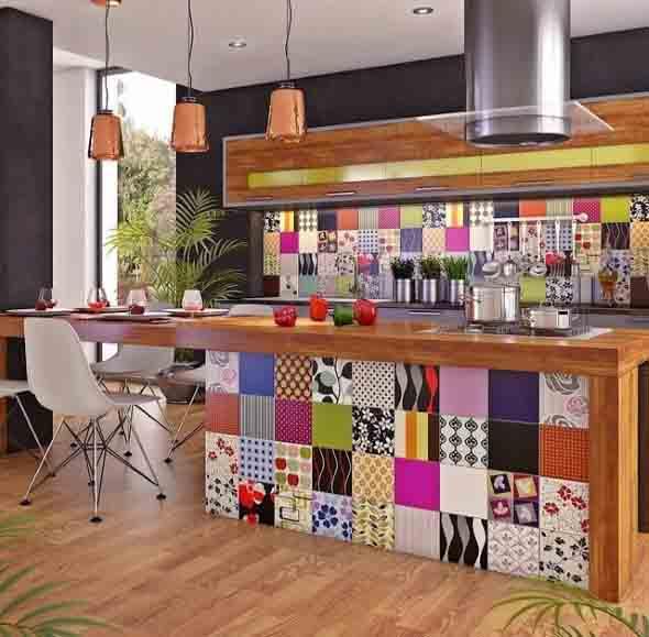 Azulejos estampados na cozinha 005