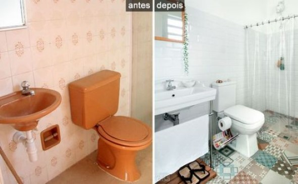 Banheiro em estilo retro 011