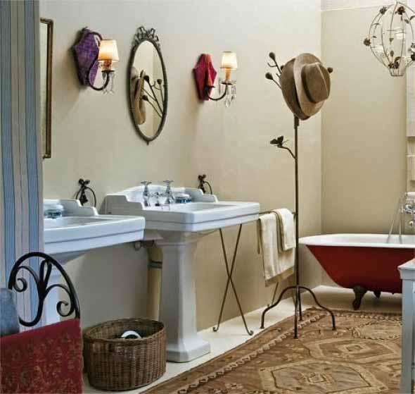 Banheiro em estilo retro 012