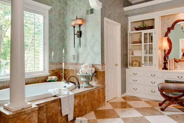 Banheiro em estilo retro 013