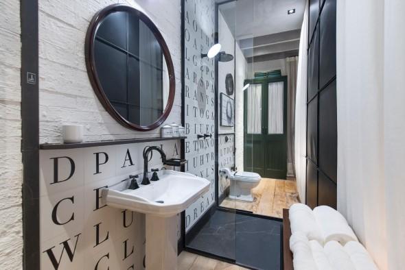 Banheiro em estilo retro 015