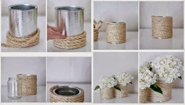 Como organizar flores com vasos artesanais 014