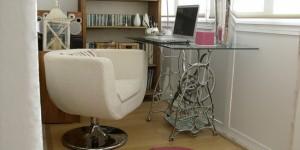 Como usar pé de máquina antiga na decoração 018