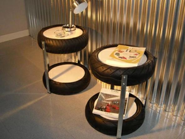 Ideias de decoração com pneus 007