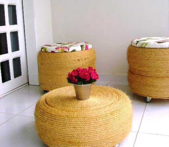 Ideias de decoração com pneus 012