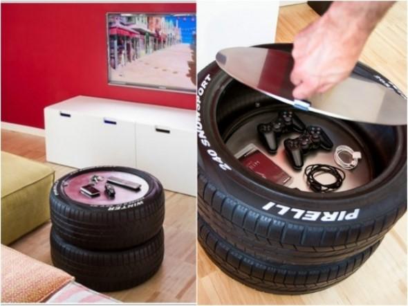 Ideias de decoração com pneus 013