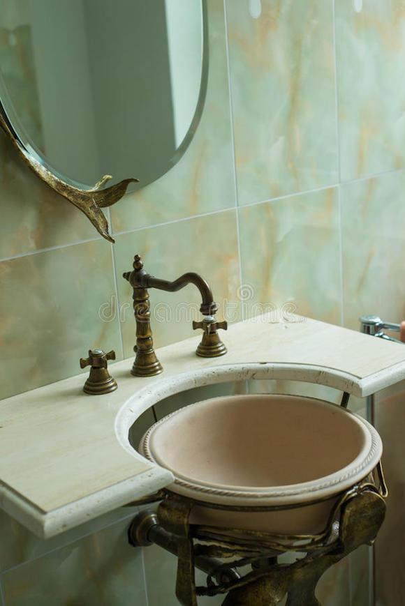banheiro estilo retro
