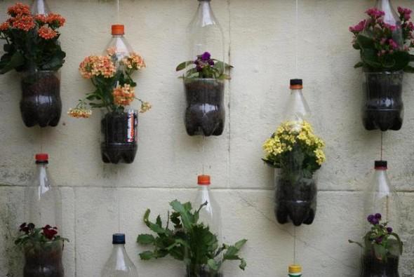 Dicas de decoração com garrafas PET 003