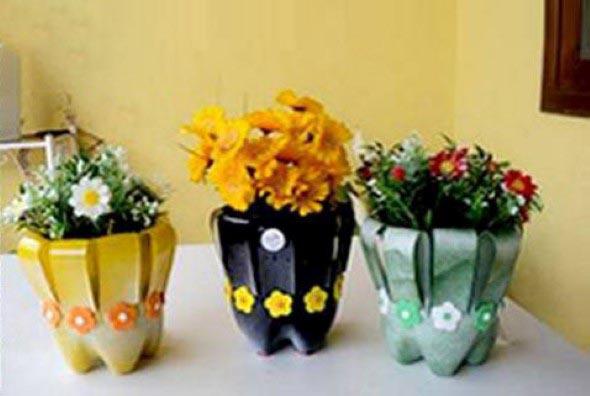 Dicas de decoração com garrafas PET 006
