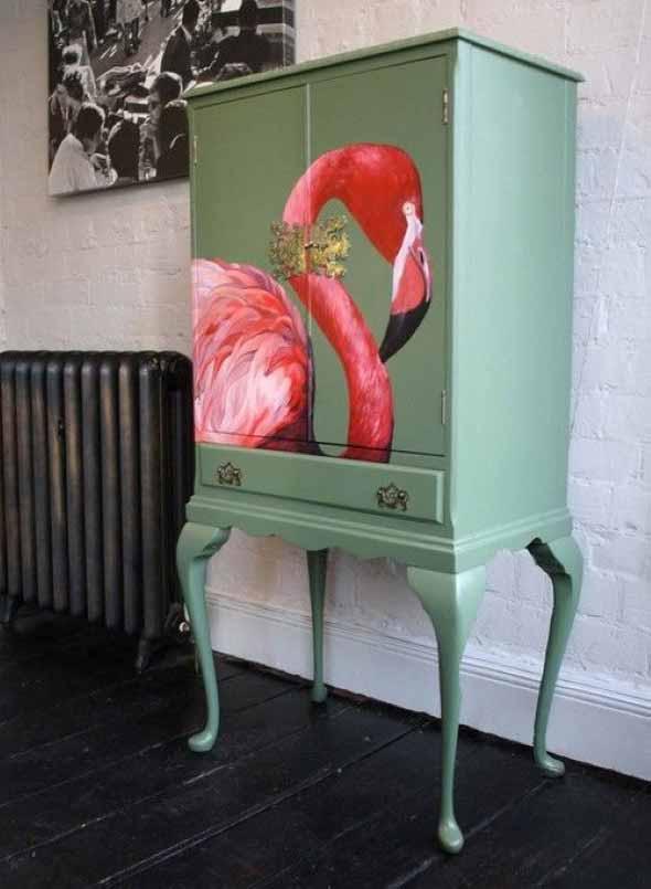 Flamingos na decoração 003