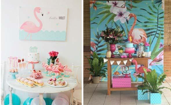 Flamingos na decoração 006