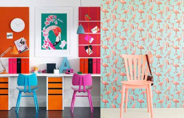 Flamingos na decoração 009