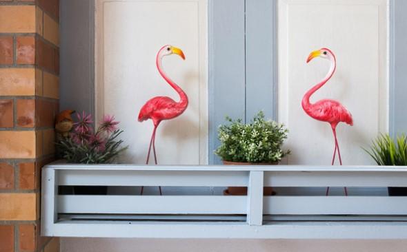 Flamingos na decoração 010