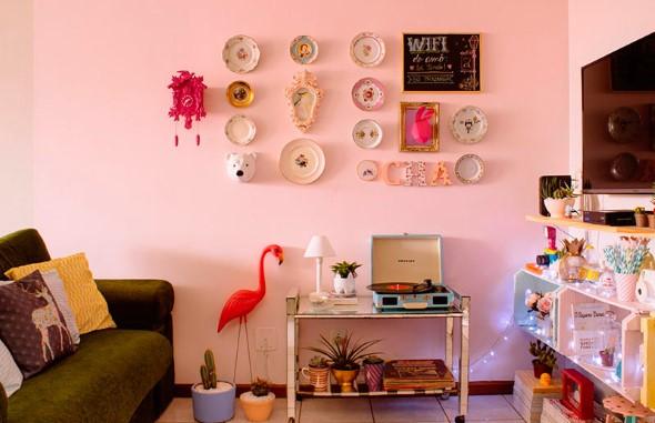 Flamingos na decoração 011
